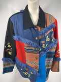 Alex Kim Women's Floral Art To Wear Jacket Vintage Quilted Jacket Size L