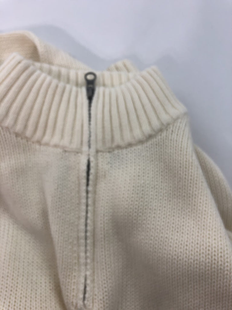 Chaps Women's Cream Long Sleeve Cotton 1/2 Zip Sweater Size Xl
