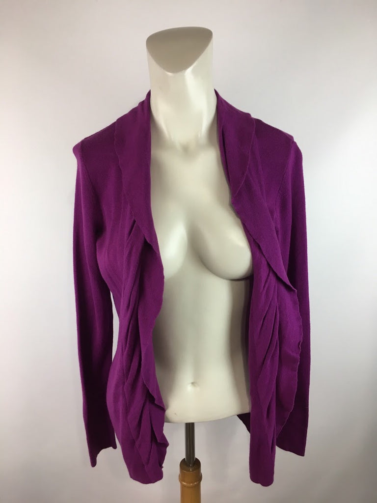 Anne Klein Women's Purple Long Sleeve Cardigan Sweater Size M