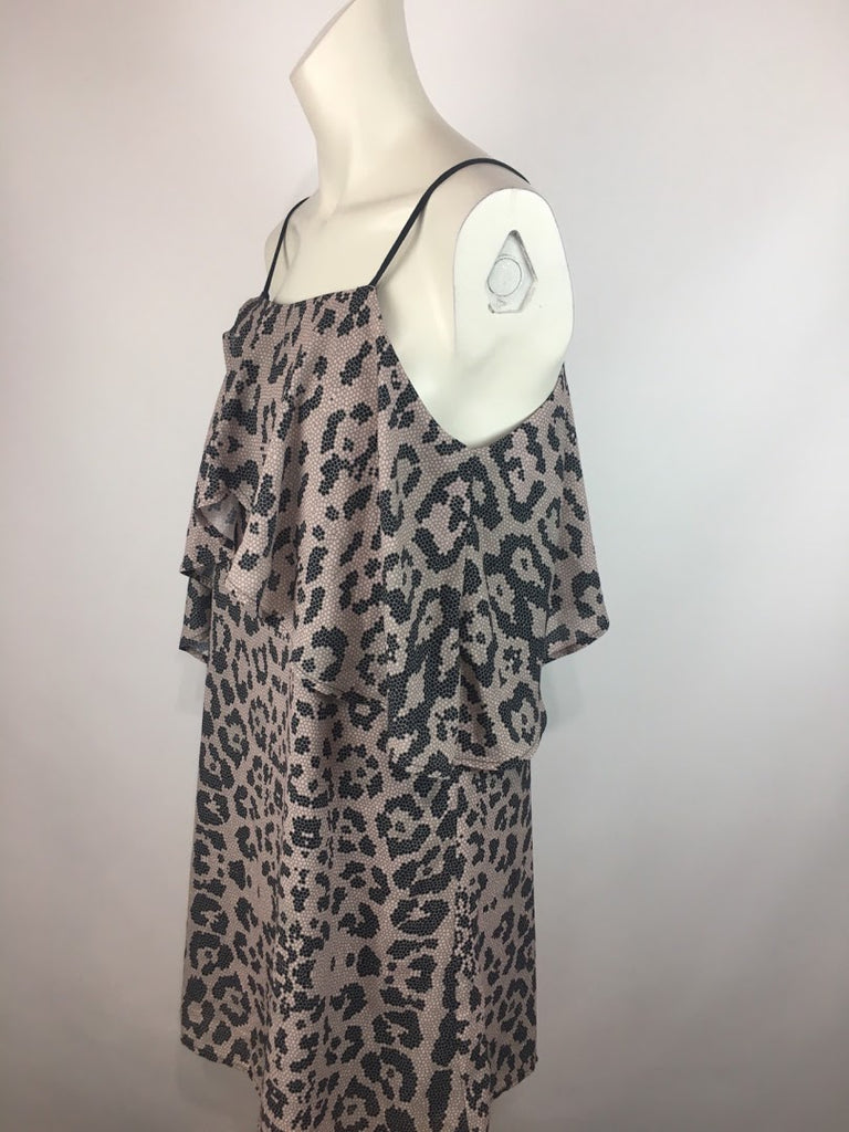 NWT Mary & Mabel Women's Leopard Print Dancing Lady Spaghetti Strap Dress Size S