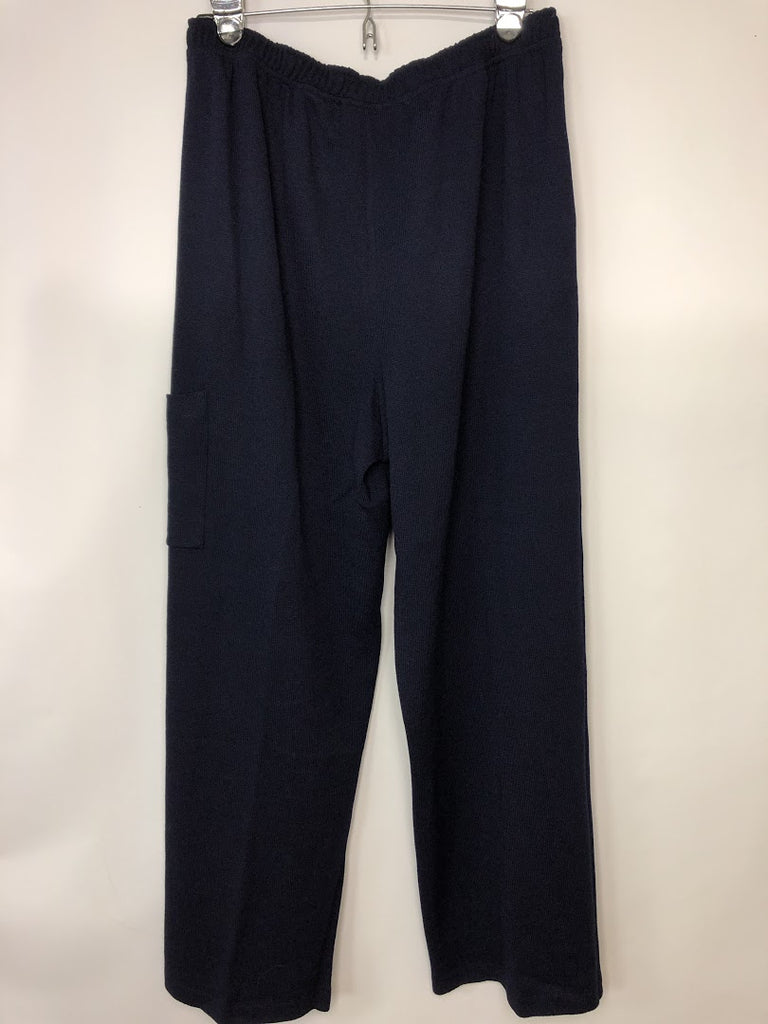 St. John Sport By Marie Gray Women's Navy Blue Vintage Usa Made Pants Size L
