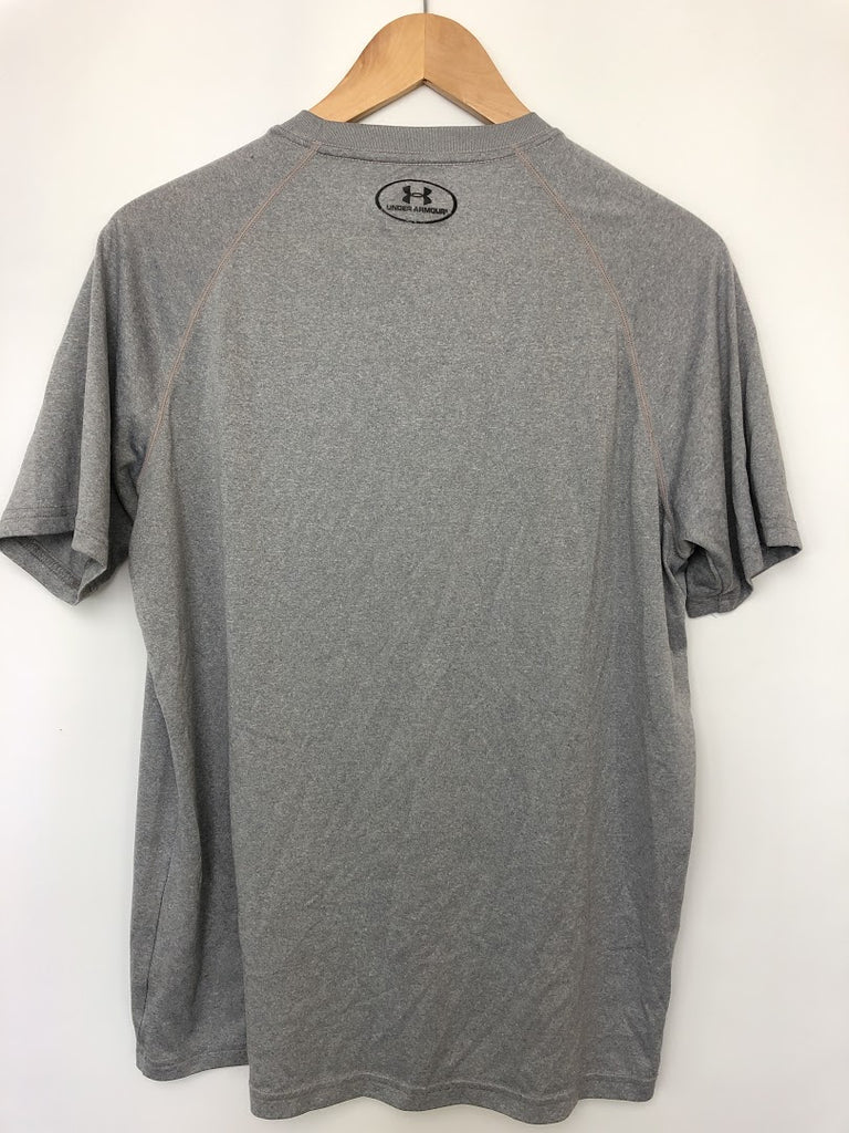 Under Armour Men's Gray Short Sleeve Basic Tee Shirt Size M