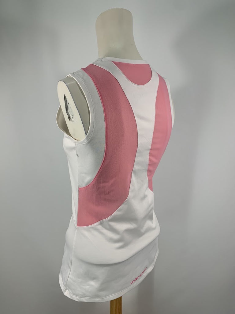 Under Armour Women's White Pink Heat Gear Activewear Tank Top Size M