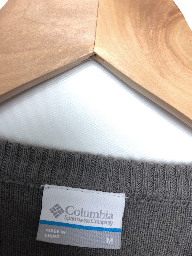 Columbia Men's Gray Pull Over Wool Blend Crewneck Sweater Size M
