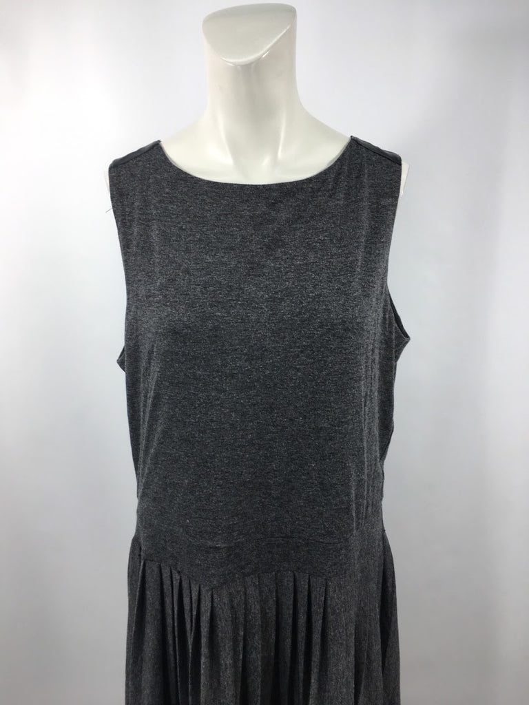 Cynthia Rowley Women's Gray Pleated Sleeveless A-Line Dress Size Xl