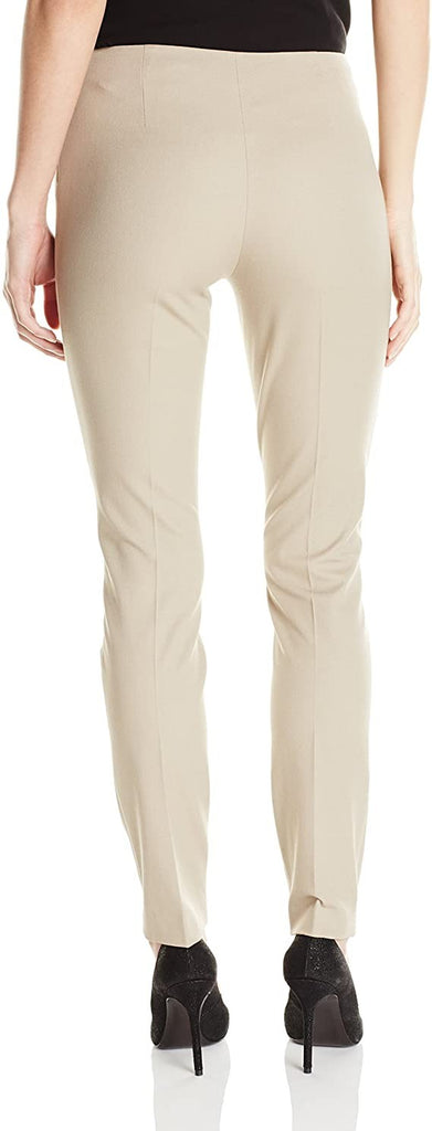 Elie Tahari Women's Juliette Stretch Cotton Twill Pant, Sahara Khaki, 2