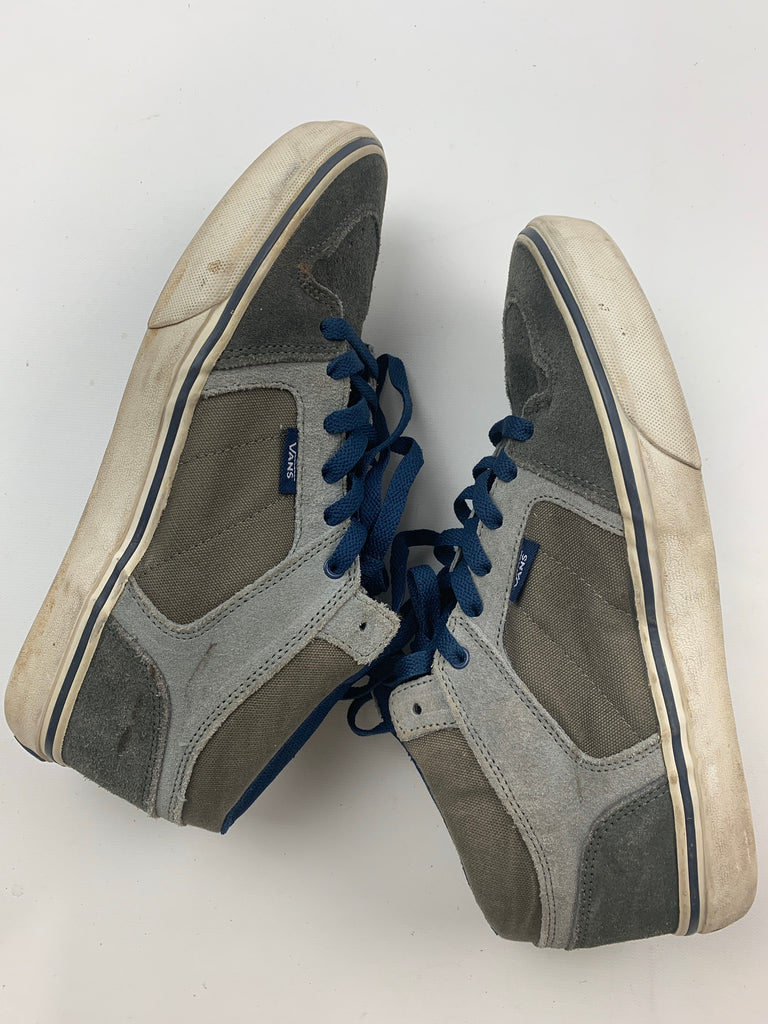 Vans Men's Gray Blue lace trainer Suede leather Athletic Sneakers Size 7
