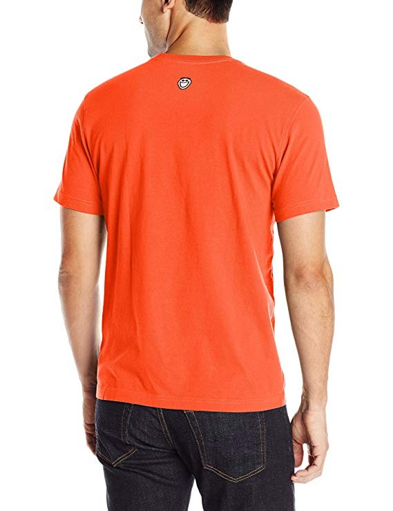 Life is Good Men's Vibes Grill Crusher Tee Small Flame Orange
