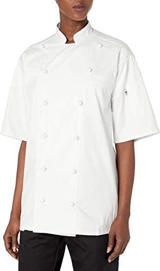 Uncommon Threads Unisex  S/s Master Chef, White, XL