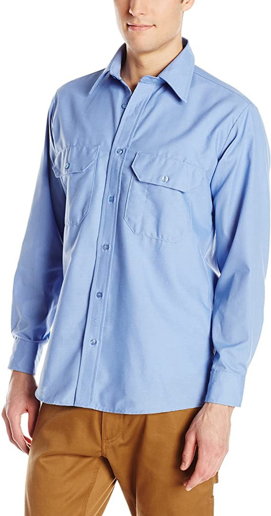 Red Kap Men's Solid Dress Uniform Shirt, Petrol Blue, XL 323 inch sleeve