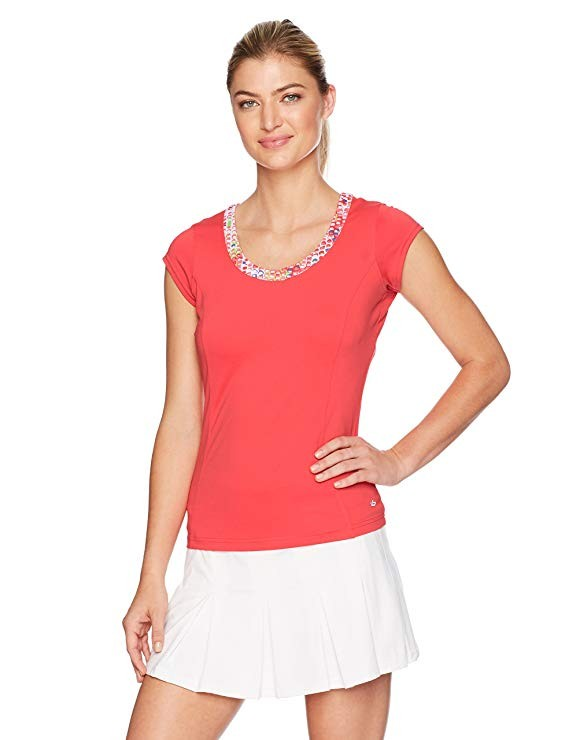 Bollé Women's Confetti Cap Sleeve Top Coral Small
