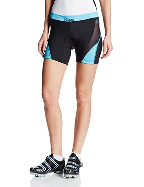 Canari Cyclewear Women's Arista Shorts, Turquoise, Large