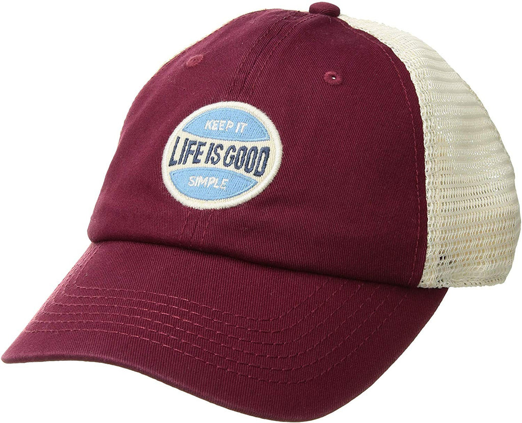 Life is Good Unisex Soft Mesh Back Lig Simple Coin Wild Cherry One Size