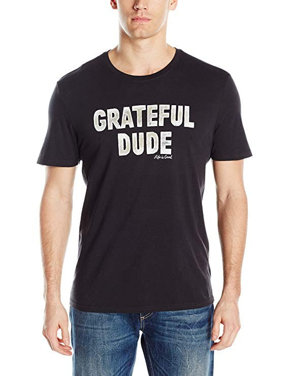 Life is Good Men's Grateful Dude Smooth Tee Night Black X-Large