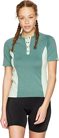 PEARL IZUMI W Select Escape Texture Jersey, Arctic Twill/Mist Green, Small