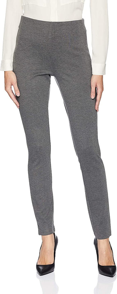 Tribal Women's Pull On Solid Ponte Legging, Heather Charcoal, 2XL