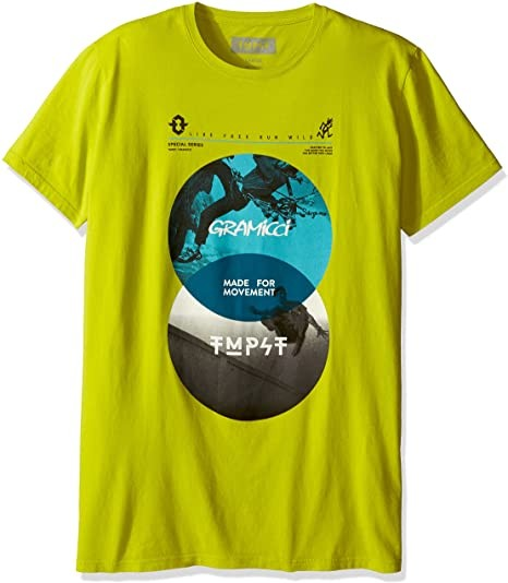 Gramicci Men's Short Sleeve TMPST Movement Tee, Citron, Large