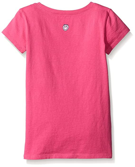 Life is Good Girls Smooth T-Shirts Collection,Playful,Fiesta Pink,Small