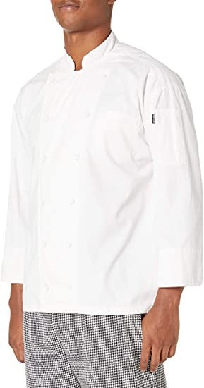Chef Code Timeless Men's Classic Executive Chef Coat, White, XS
