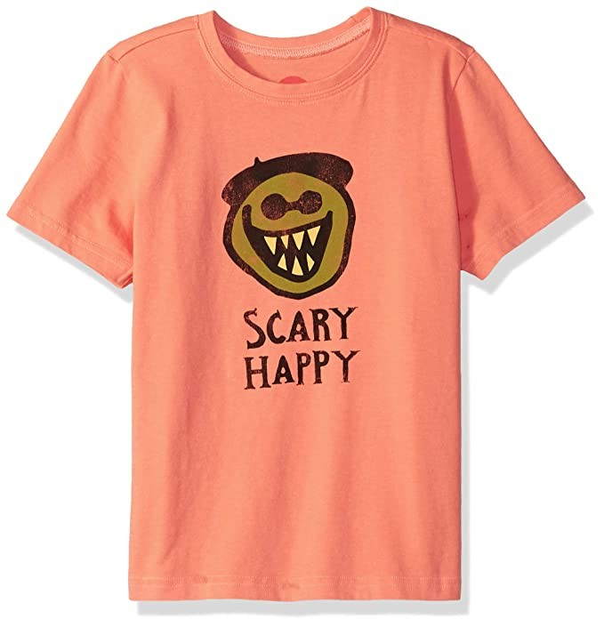 Life is Good Boys Crusher T-Shirt Collection,Scary Happy,Large