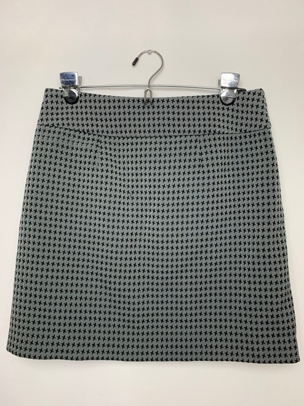 Loft Women's Gray Lined A-Line Skirt Size 4