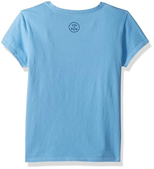 Life is Good Girls Crusher T-Shirts ,Treble Maker,Powder Blue,Small