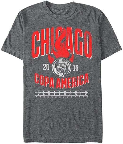 Copa America By Fifth Sun Men's Chicago Copa T-Shirt, Charcoal Heather, XL