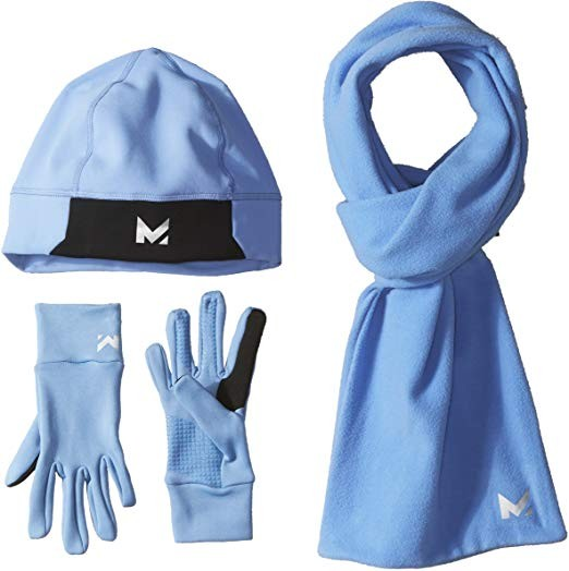 Mission Women's RadiantActive Beanie/Scarf/Glove Set, Blue, Small/Medium