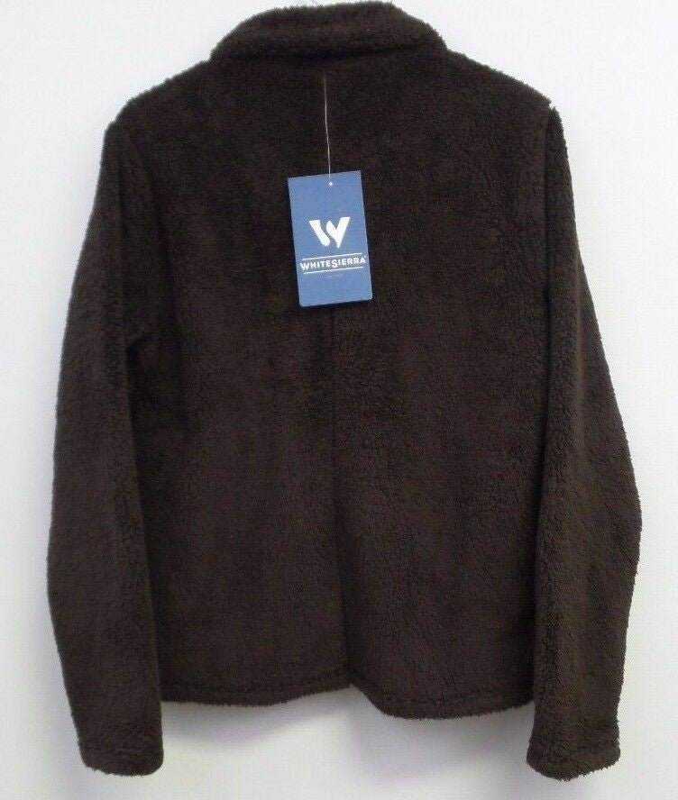 White Sierra Wooly Bully Zip Jacket II, Coffee Bean, Large