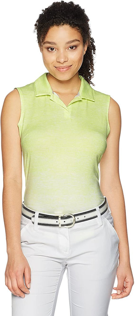 PUMA Golf Women's 2018 Gradient Sleeveless Polo, Sunny Lime, Medium