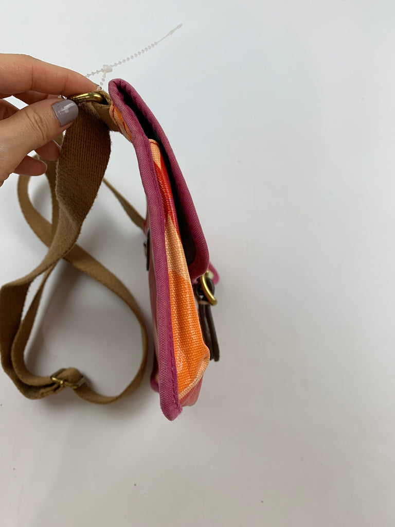Fossil Women's Red Orange fabric Crossbody Size 6x9