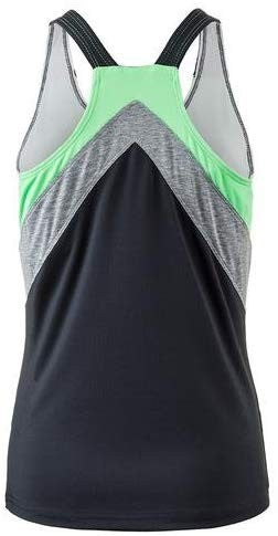 Bolle Womens Priscilla Racerback Tank with Bra Graphite X-Small