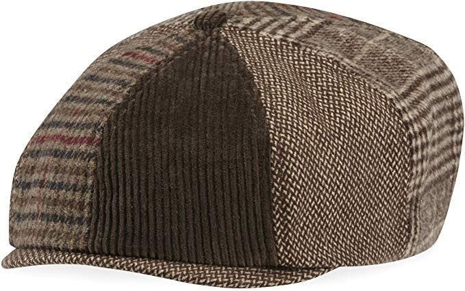 Life is Good Baker's Cap Mixed Patterns Hat Rich Brown Large/X-Large