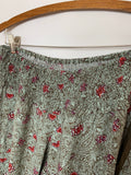 NWOT Jessica Simpson Women's Green Paisley Smocked fit belly Wide leg Size S