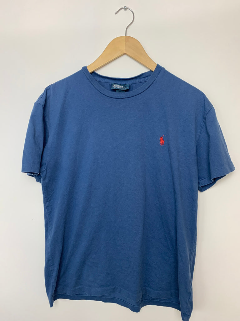 Polo By Ralph Lauren Men's Blue Short Sleeve Basic Tee Shirt Size S