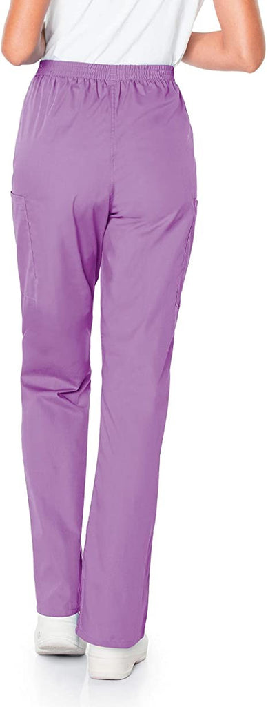 Scrub Zone Women's Tall Size Durable 2-Pocket Cargo Scrub Pant, Orchid, Large