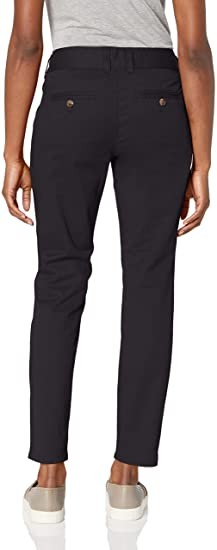 Mountain Khakis Women's Sadie Skinny Chino Pant Classic Fit, Black, 14 Regular