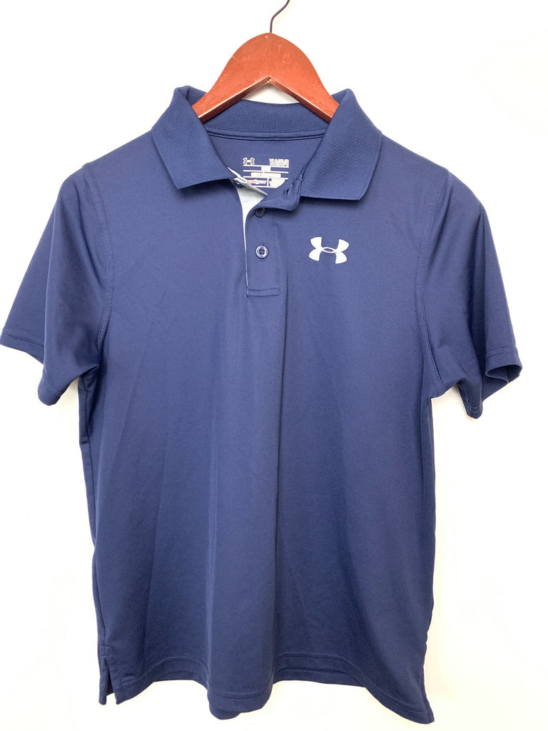 Under Armour Boy's Navy YLG Loose Polo Size L youth