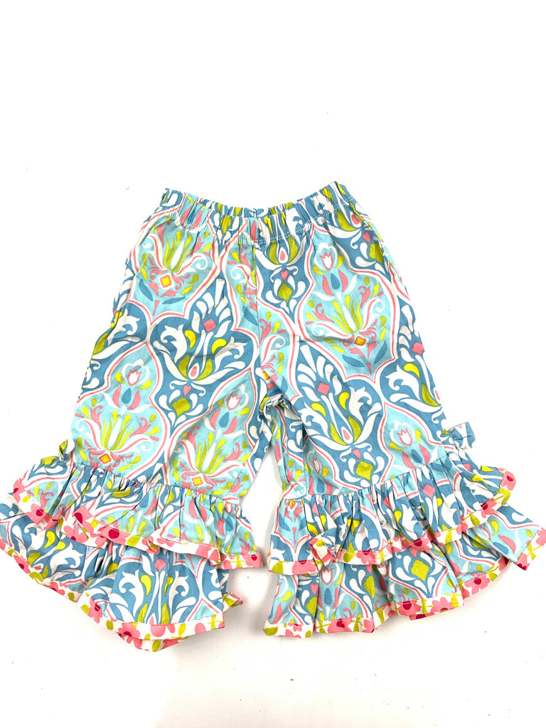 Jelly the pug Girl's Blue Pleated Flare pants Layered Size 18month