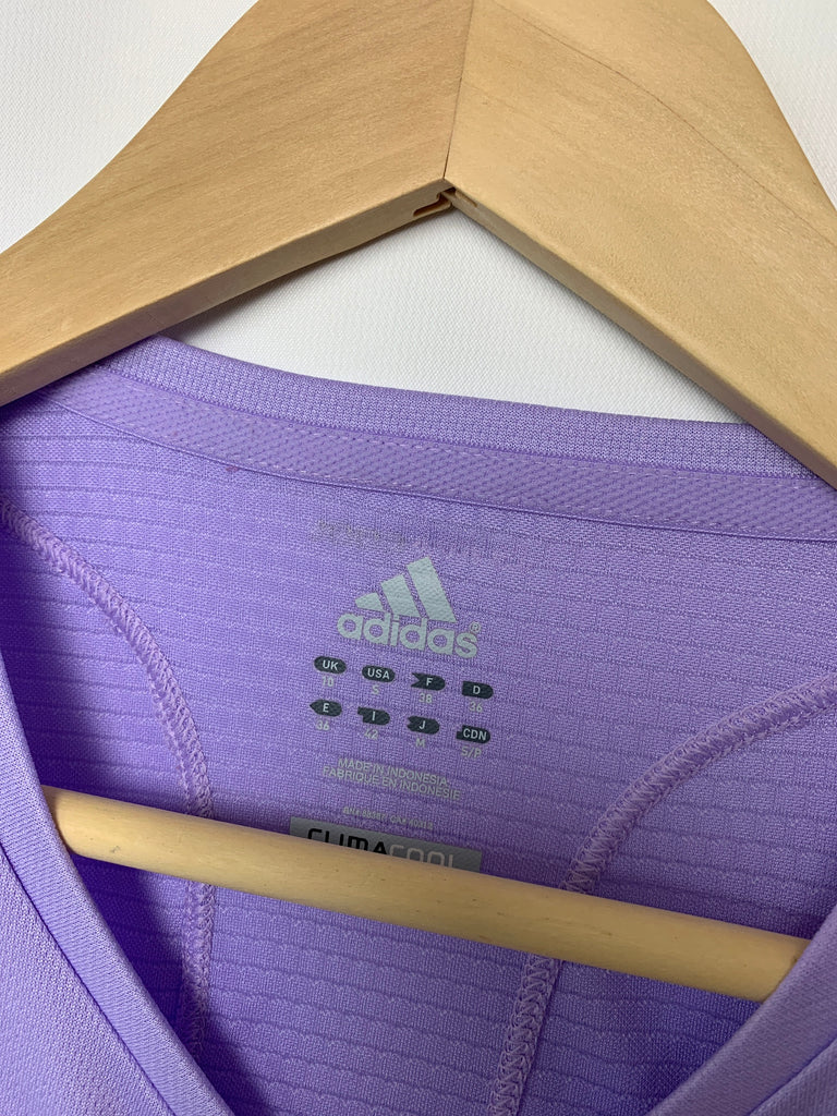 Adidas Women's Climacool lavender Activewear Short Sleeve Top Size S
