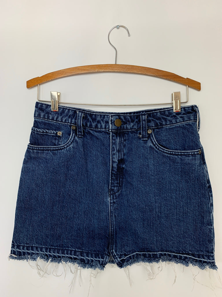Free People Women's Blue Step up mini A-Line Skirt Size 4