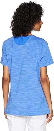 adidas Golf Ultimate 365 Collarless Shirt, Hi-Res Blue, XL