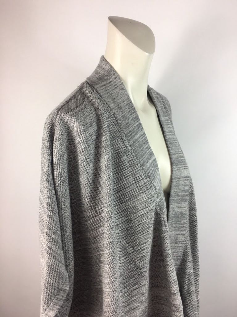 Style & Co. Women's Gray Thin Knit Front Pockets Cotton Cardigan Sweater Size S