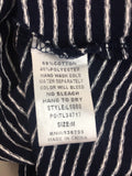 Umgee Women's Navy Striped Tied Up Stretchy Blouse Top Size M