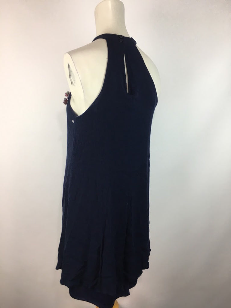 Tc Elli'S Women's Navy Tribal Stitching Sleeveless Rayon Dress Size S
