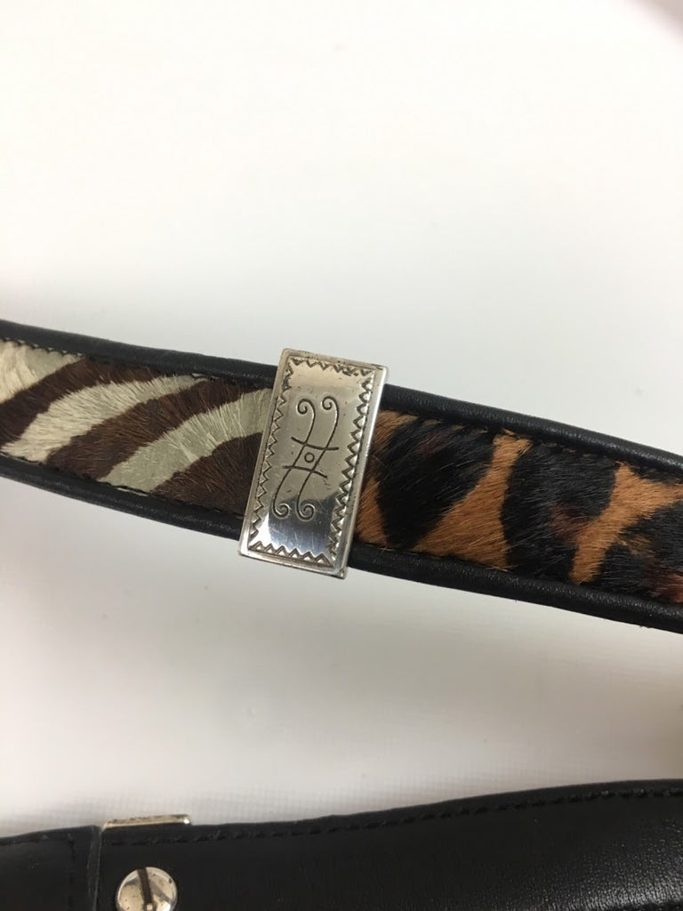 Brighton Women's Animal Print Leather Waist Belt Size 30