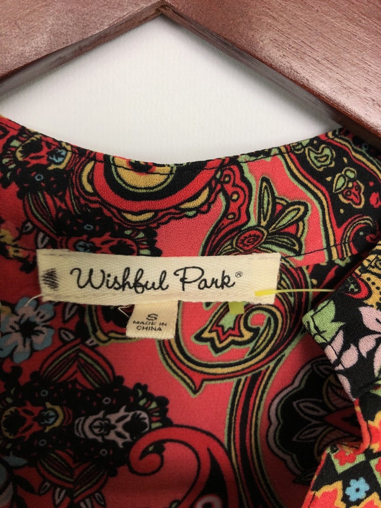 Wishful Park Women's Floral Polyester Tunic Top Size S