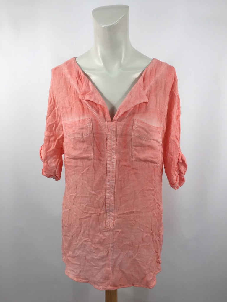 Juicy Couture Women's Pink Woven Rayon Blouse Top Size M