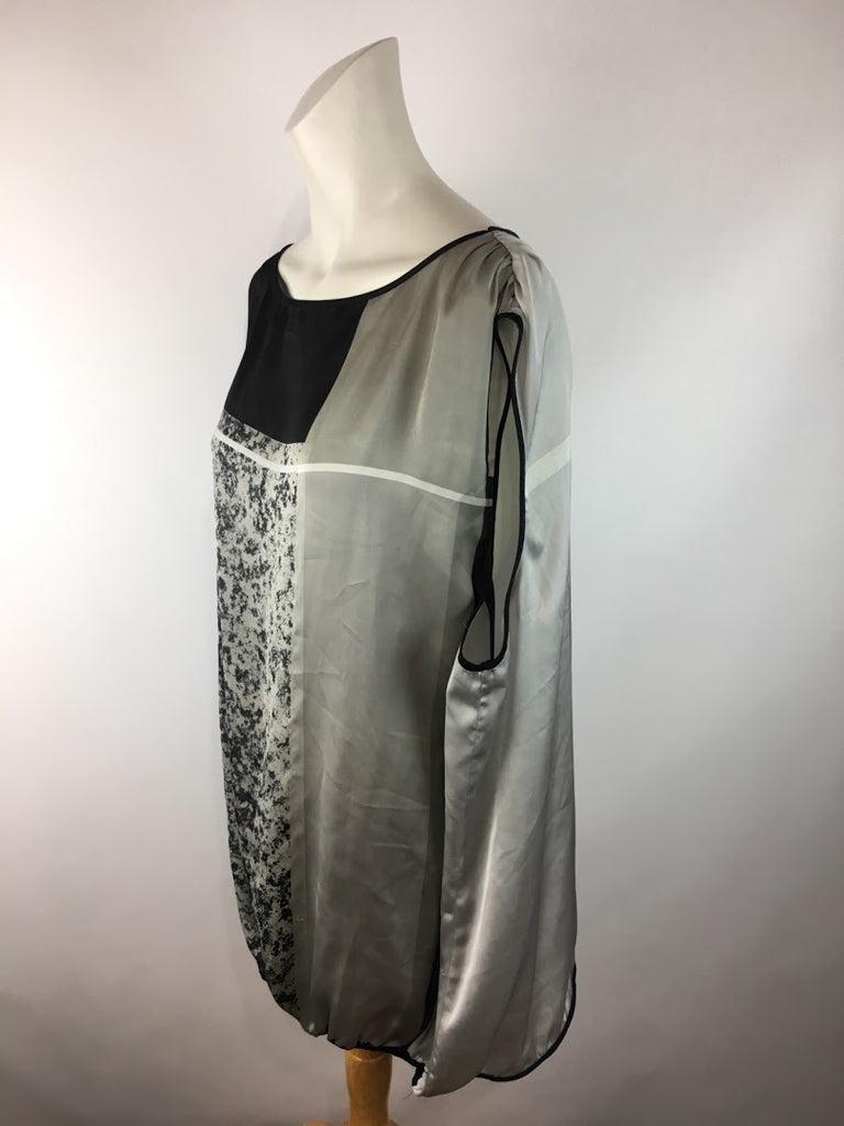 Max Studio Women's Black Gray Abstract Plus Size Sleeveless Top Size 3X