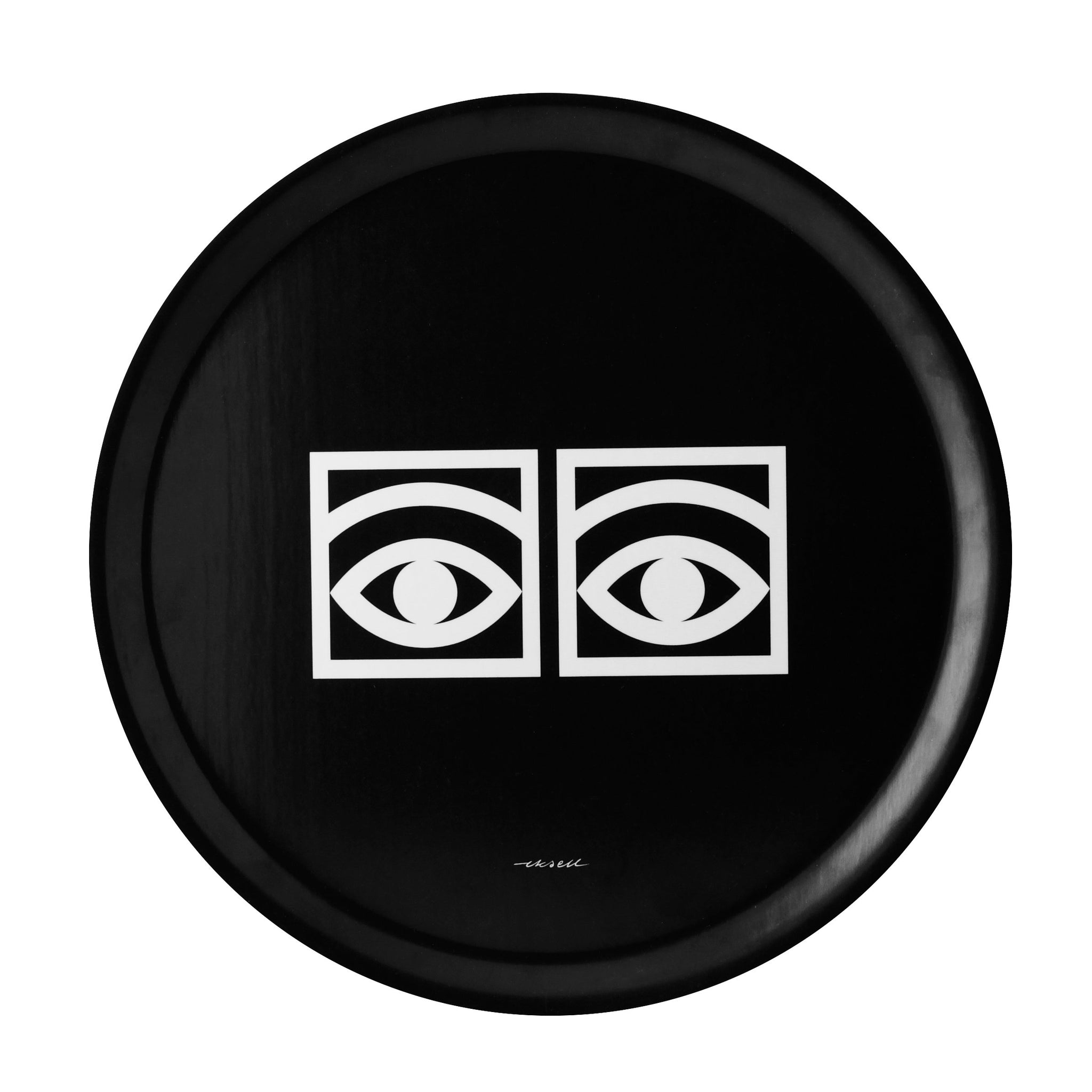 Ögon Cacao Black Tray - White Eyes